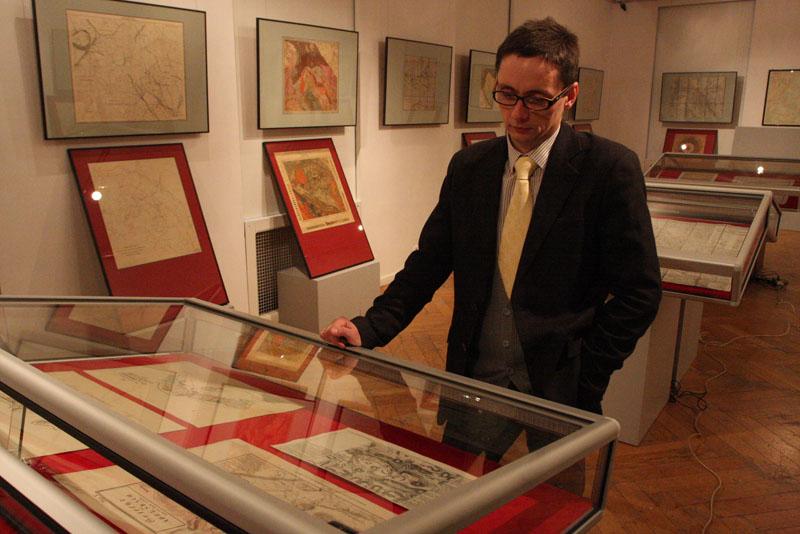 Wystawa map w muzeum