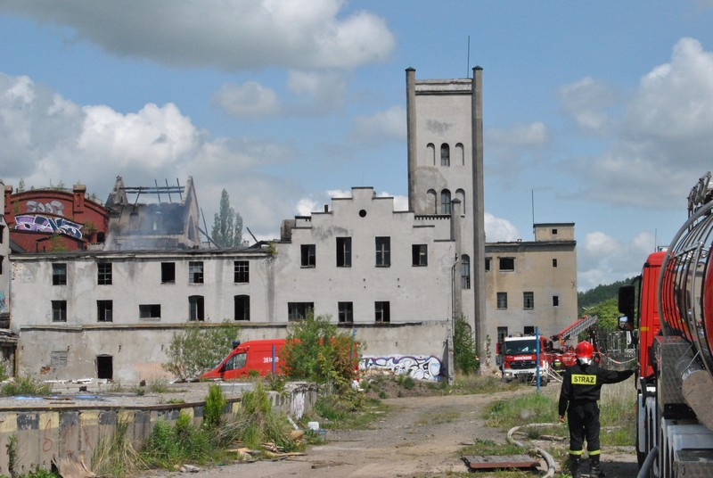 Znów pożar budynków porcelany