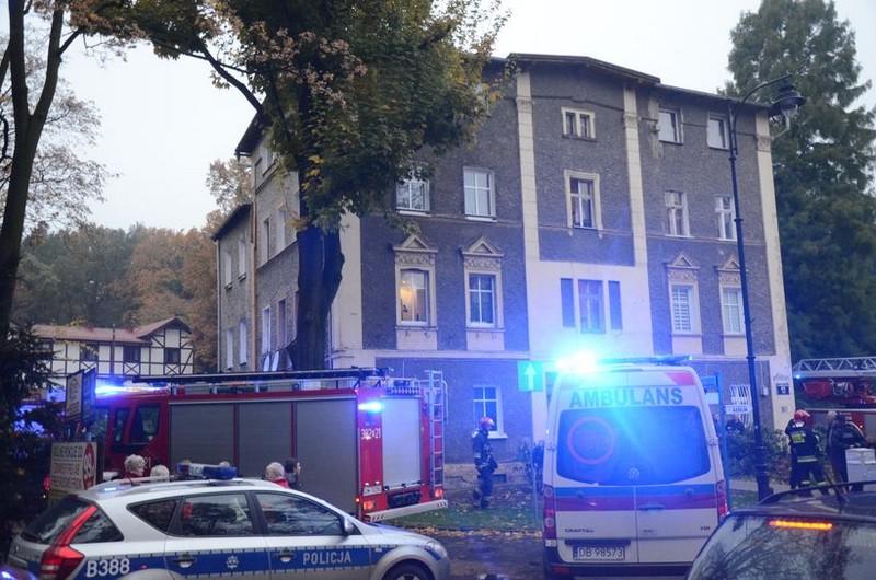 Wybuch piecyka w Szczawnie
