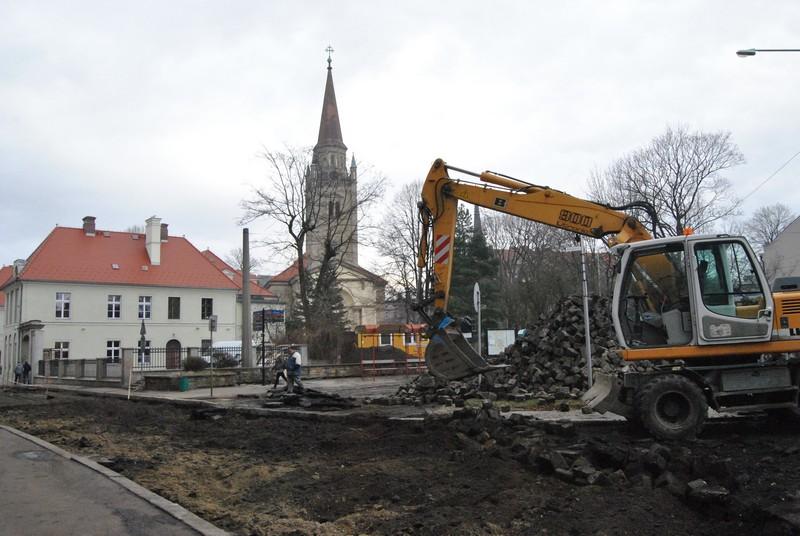 Rozkopane centrum