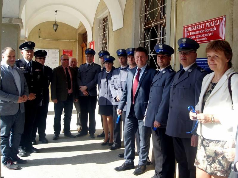 Rewir policji w Mieroszowie oficjalnie otwarty