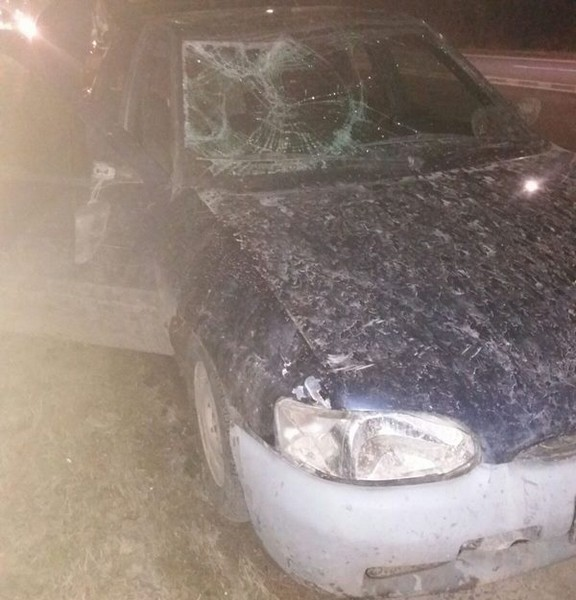 Jechał rozbitym autem
