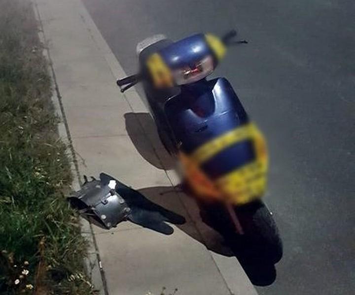 Uciekał policjantom motorowerem