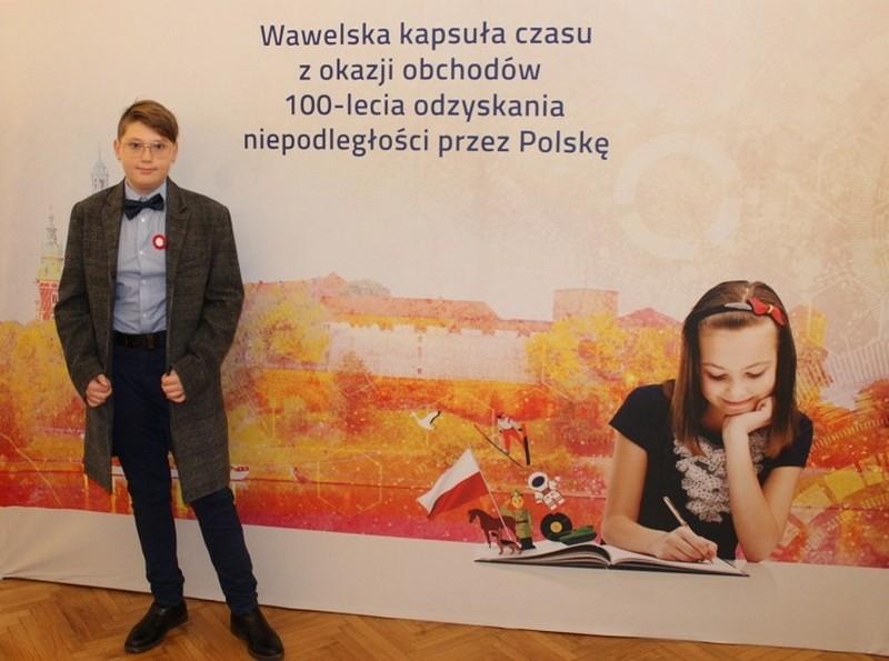 Uczeń z Walimia zostawił swój ślad na Wawelu