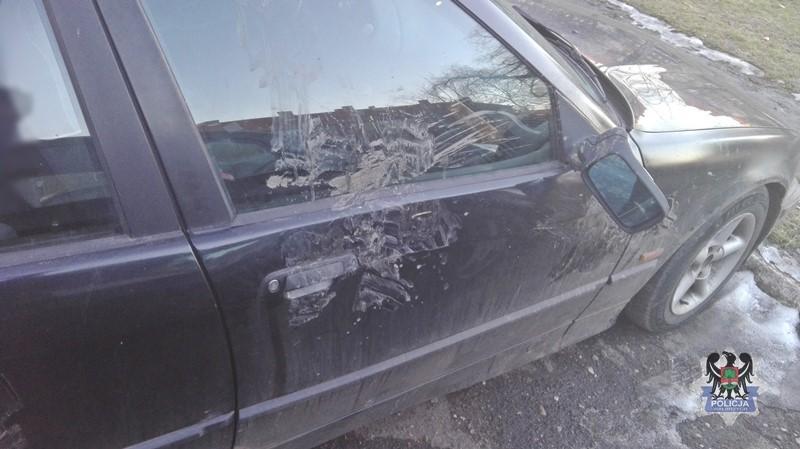 Pokłócił się z partnerką i… zniszczył auto jej ojca