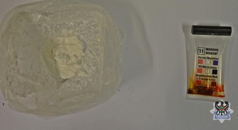 Młodzian złapany z amfetaminą