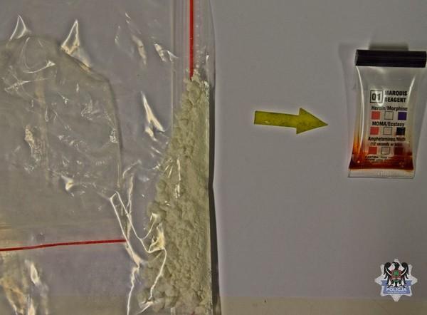 Pasażer auta zatrzymany z narkotykami
