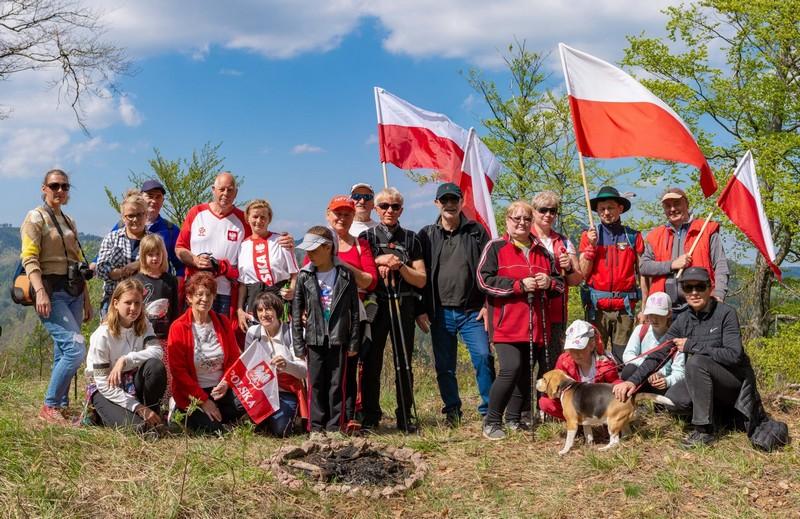 Biało-czerwone barwy widoczne w Sokołowsku